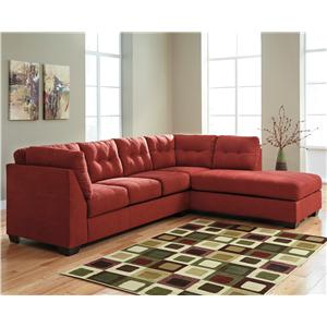 Benchcraft Maier - Sienna 2-Piece Sectional w/ Sleeper Sofa & Chaise