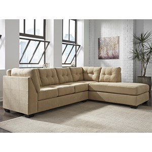 Benchcraft Maier - Cocoa 2-Piece Sectional w/ Sleeper Sofa & Chaise