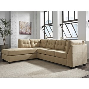 Benchcraft by Ashley Maier - Tan 2-Piece Sectional with Left Chaise