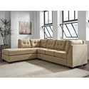 Benchcraft Maier - Cocoa 2-Piece Sectional with Left Chaise - Item Number: 4520316+67