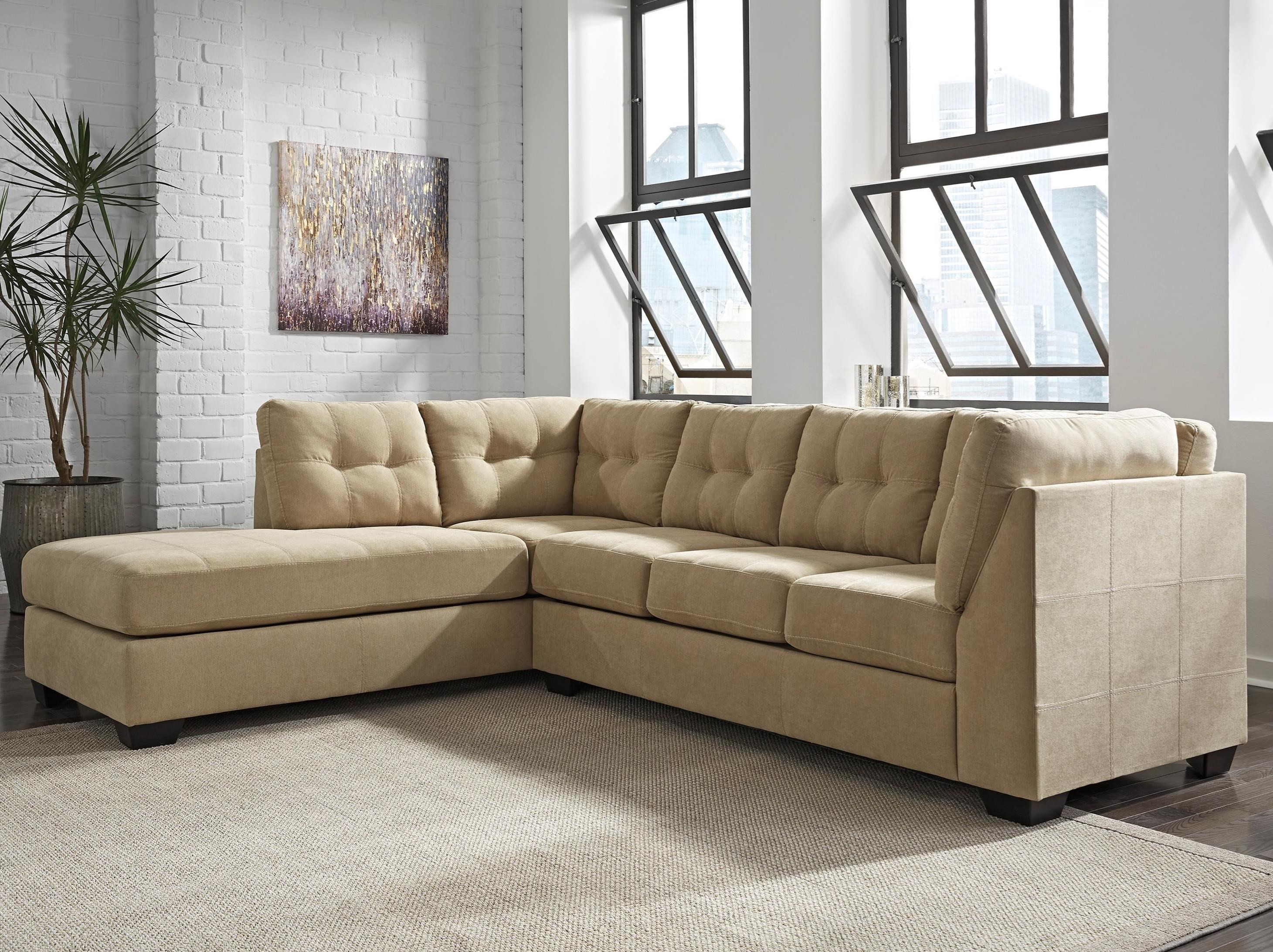Benchcraft Maier - Cocoa 2-Piece Sectional w/ Sleeper & Chaise - Item Number: 4520316+83