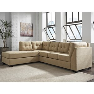 JB King Mendel 2-Piece Sectional w/ Sleeper & Chaise