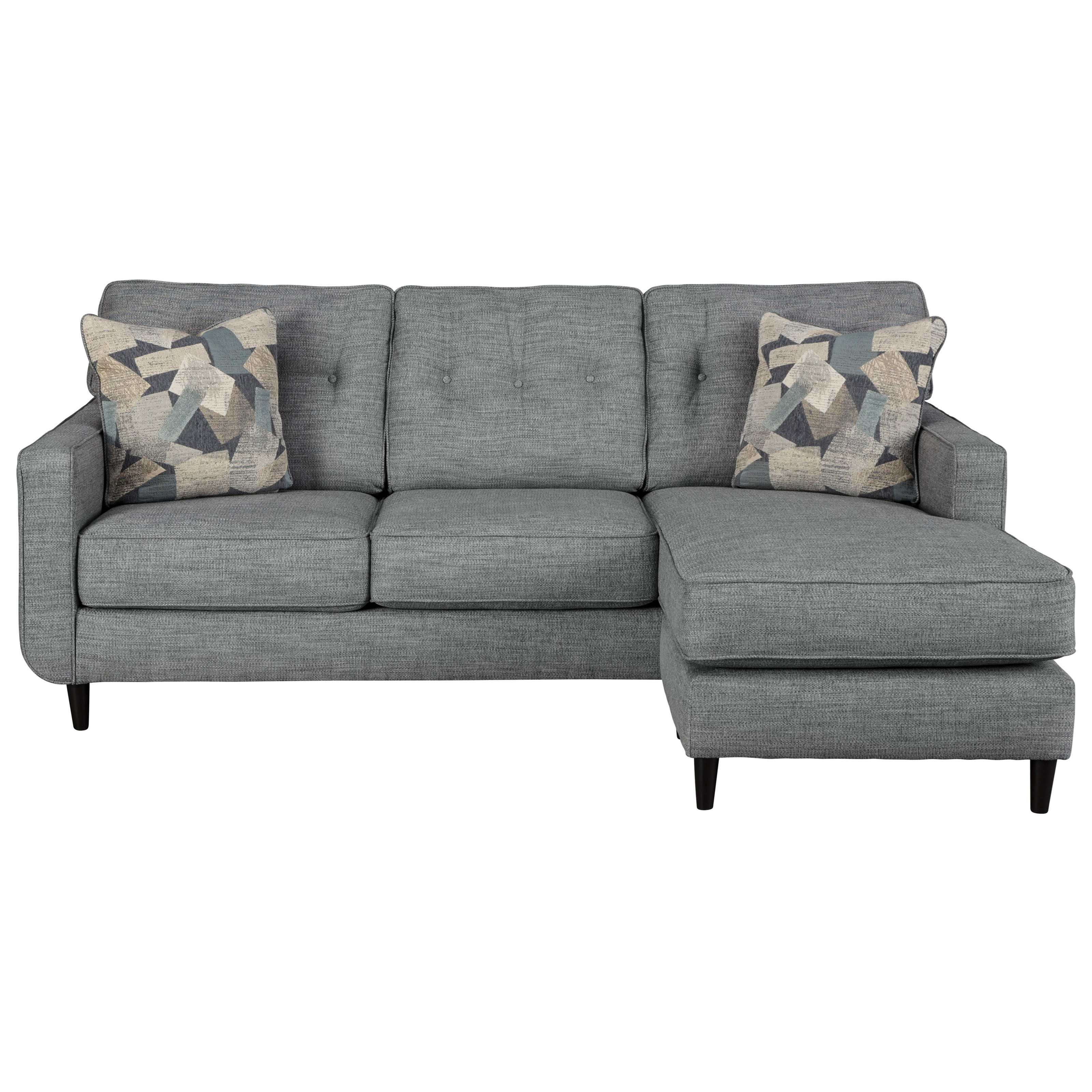 Mandon Mid-Century Modern Sofa with Chaise by Benchcraft by Ashley at Royal  Furniture