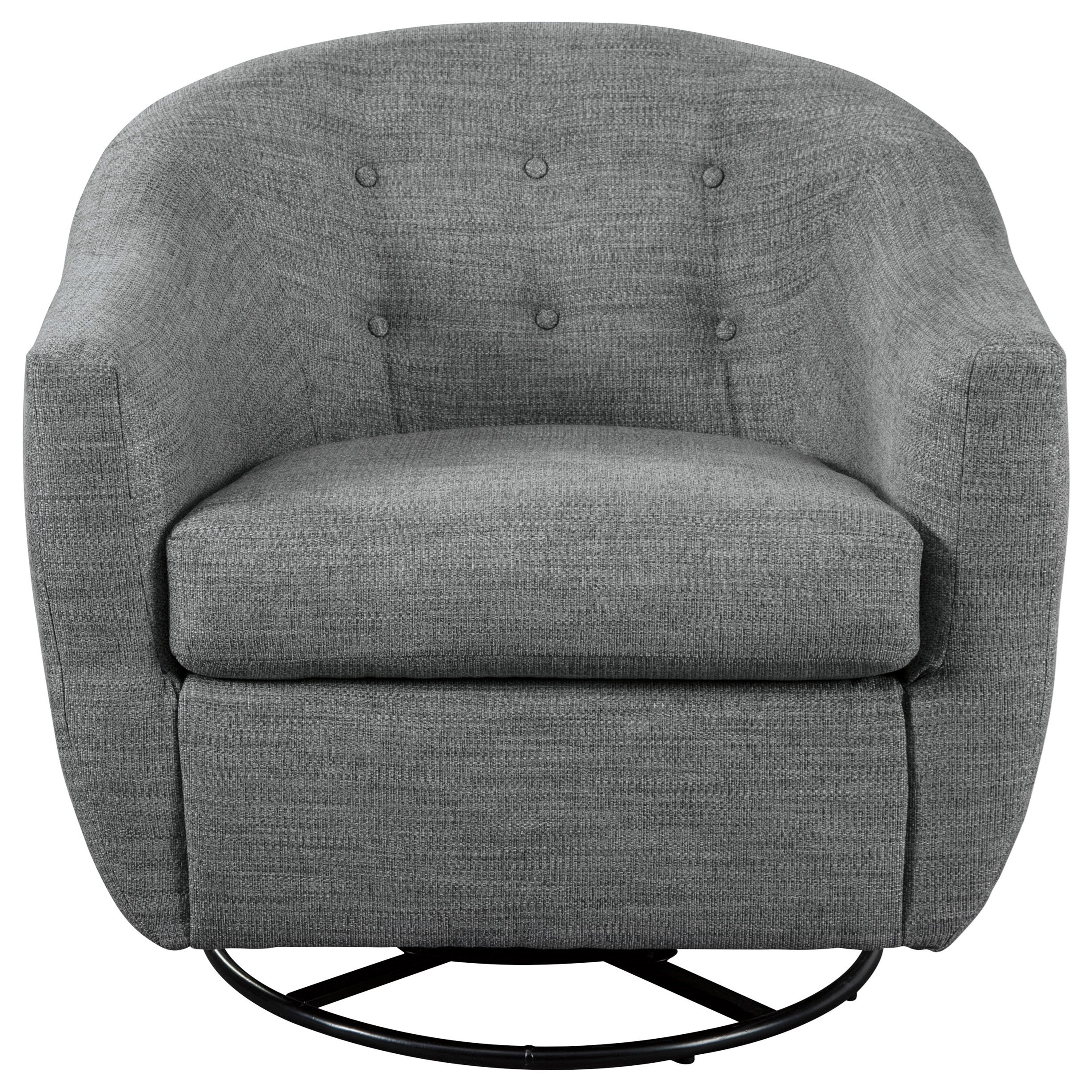 Image of: Mandon Mid Century Modern Swivel Accent Chair Becker Furniture Upholstered Chairs