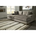 Benchcraft Manzani Contemporary 2 Piece Sectional with Chaise