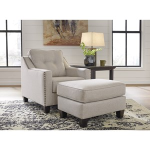 Benchcraft Marrero Chair and Ottoman