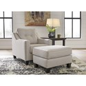 Signature Design By Ashley Marrero Chair and Ottoman - Item Number: 2370220+14