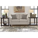 Benchcraft Marrero Contemporary Loveseat with Nailhead Trim