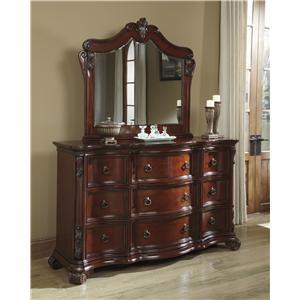 Benchcraft Martanny Dresser and Mirror Set