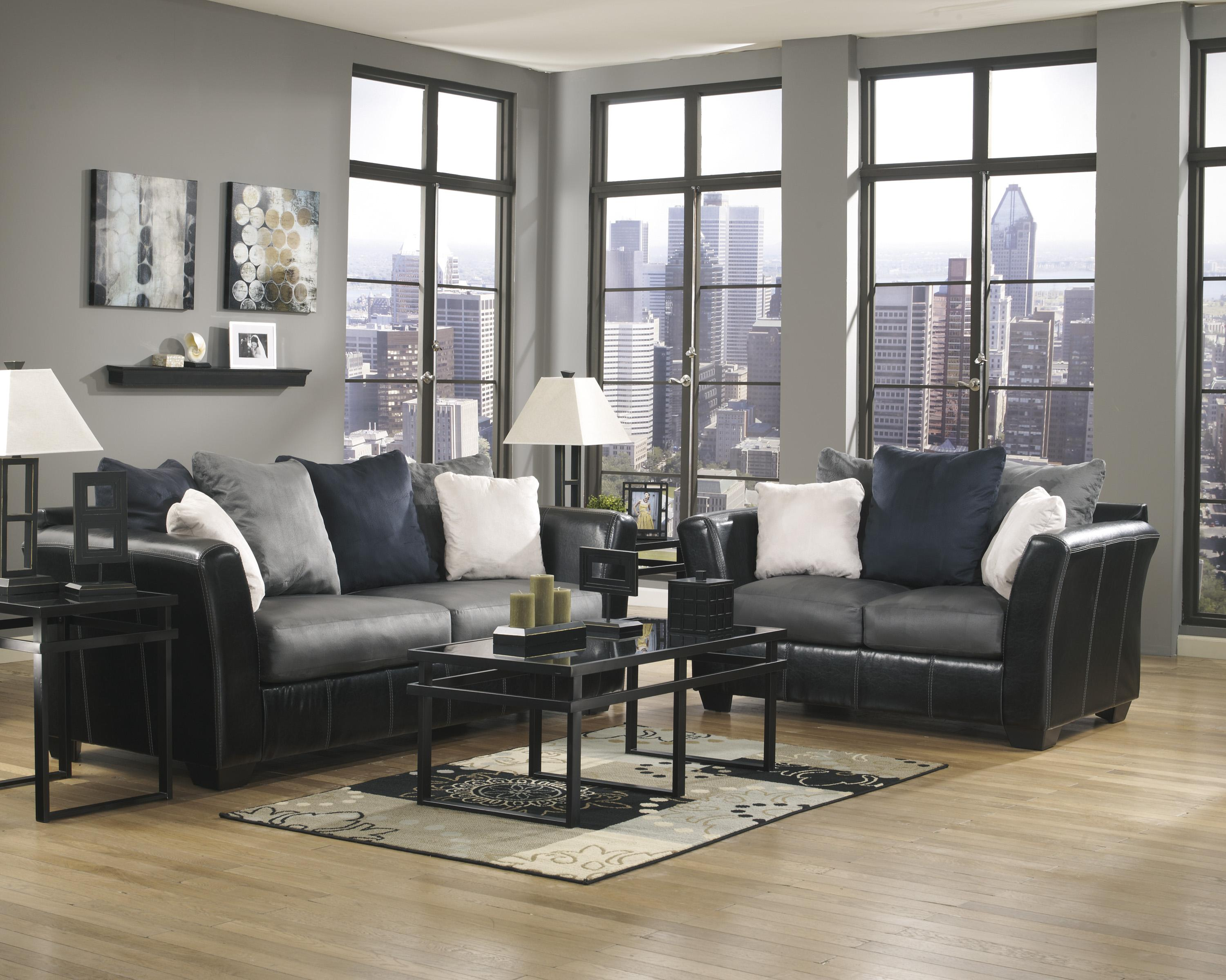 Ashley/Benchcraft Masoli - Cobblestone Stationary Living Room Group - Item Number: 14200 Living Room Group 1