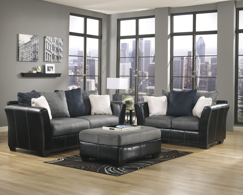 Ashley/Benchcraft Masoli - Cobblestone Stationary Living Room Group - Item Number: 14200 Living Room Group 2