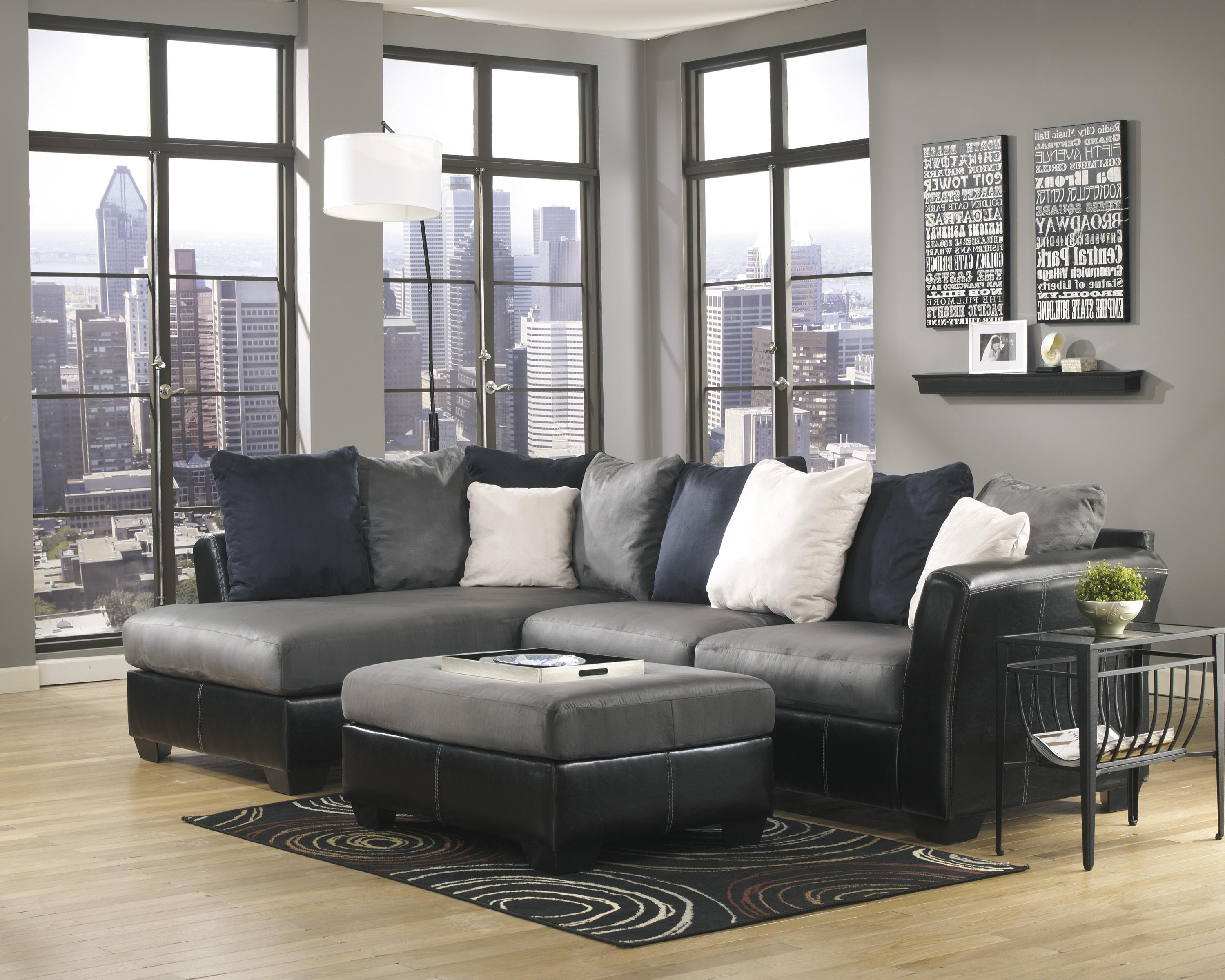 Ashley/Benchcraft Masoli - Cobblestone Stationary Living Room Group - Item Number: 14200 Living Room Group 5