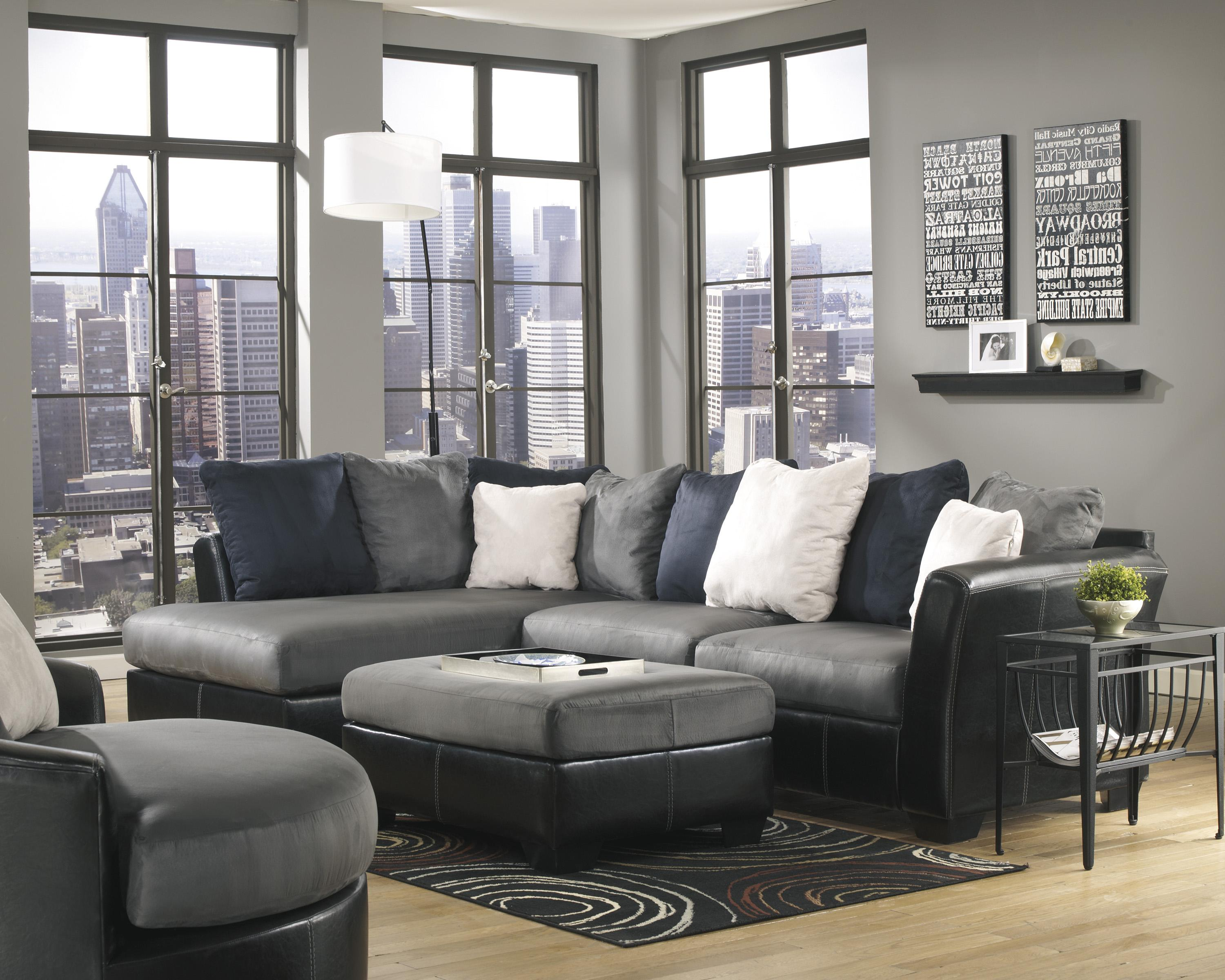 Ashley/Benchcraft Masoli - Cobblestone Stationary Living Room Group - Item Number: 14200 Living Room Group 8