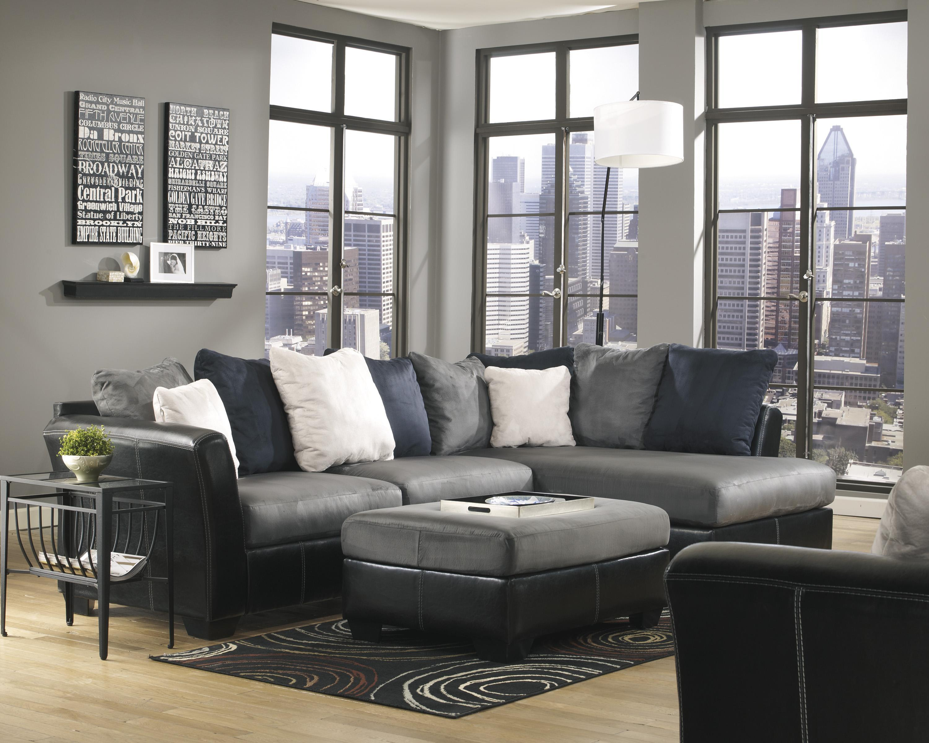 Benchcraft Masoli - Cobblestone Stationary Living Room Group - Item Number: 14200 Living Room Group 9