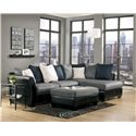 Benchcraft Masoli - Cobblestone Oversized Accent Ottoman - Shown with Sectional