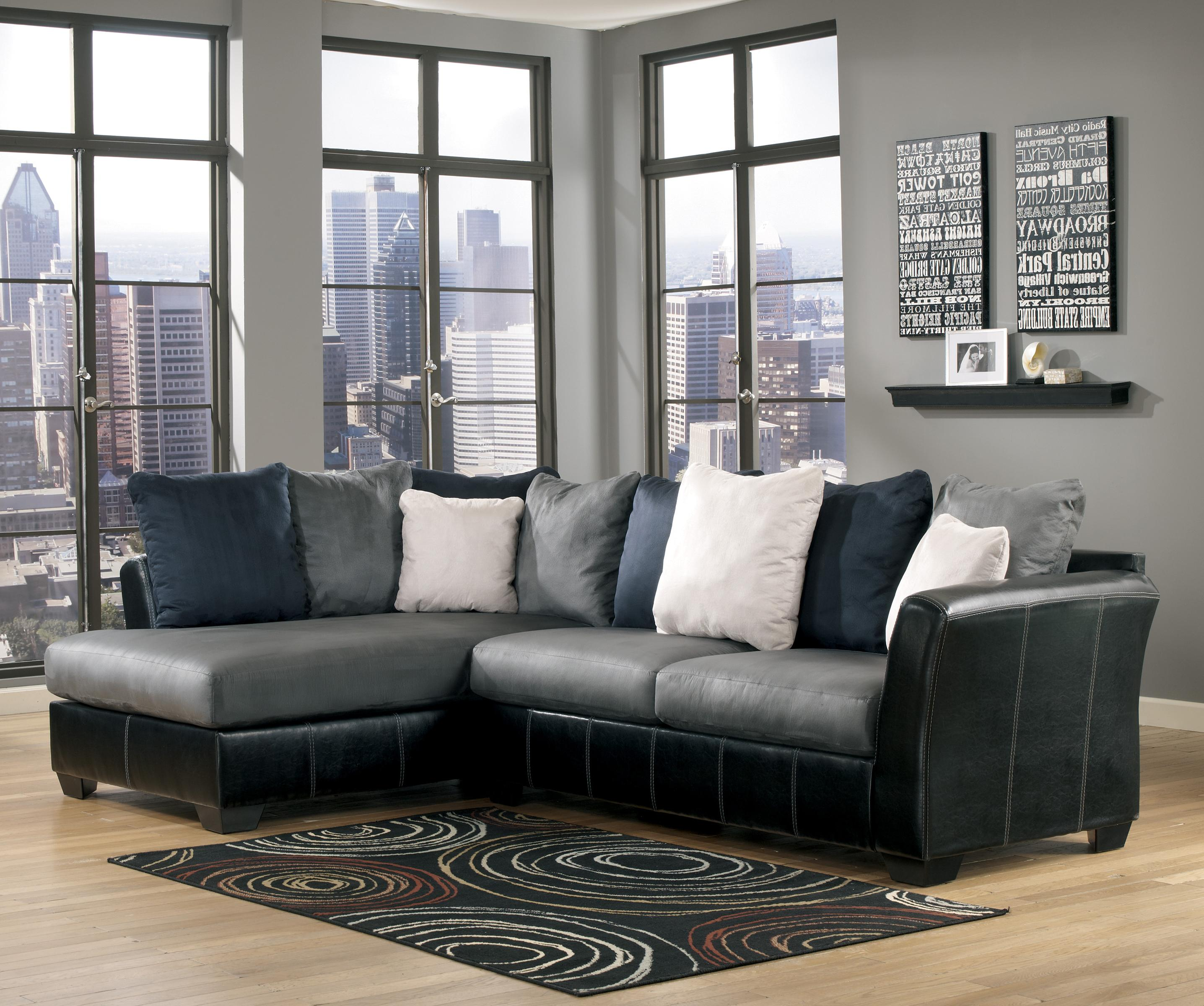 Ashley/Benchcraft Masoli - Cobblestone 2-Piece Sectional with Chaise - Item Number: 1420016+67