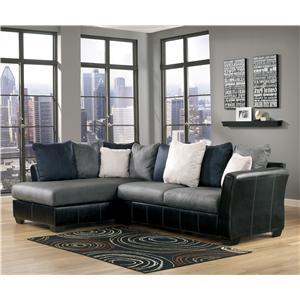 Ashley/Benchcraft Masoli - Cobblestone 2-Piece Sectional with Chaise