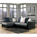 Benchcraft Masoli - Cobblestone 2-Piece Sectional with Chaise - Item Number: 1420016+67