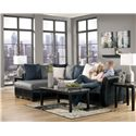 Benchcraft Masoli - Cobblestone 2-Piece Sectional with Left Chaise
