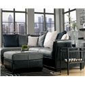 Benchcraft Masoli - Cobblestone 2-Piece Sectional with Left Chaise - Shown with Ottoman