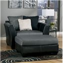 Benchcraft Masoli - Cobblestone Chair and a Half & Oversized Accent Ottoman - Item Number: 1420023+08