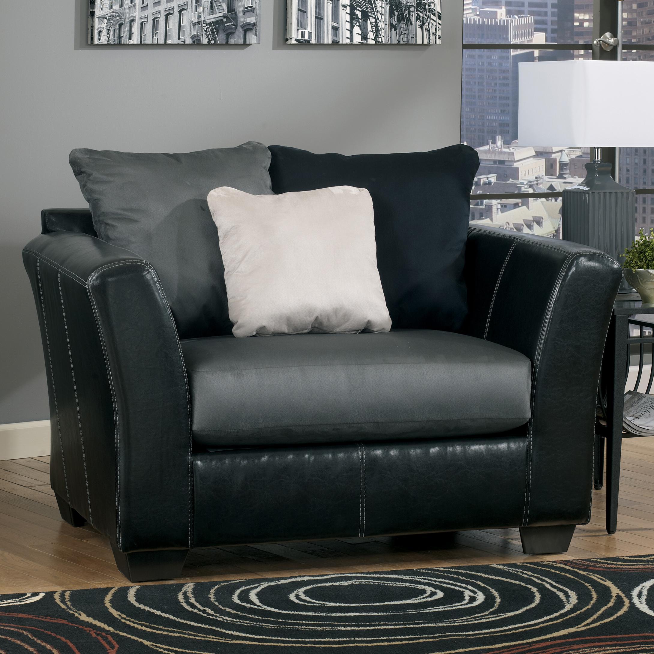 Ashley/Benchcraft Masoli - Cobblestone Chair and a Half - Item Number: 1420023