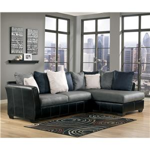 Benchcraft Masoli - Cobblestone 2-Piece Sectional with Chaise