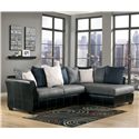 Benchcraft Masoli - Cobblestone 2-Piece Sectional with Chaise - Item Number: 1420066+17