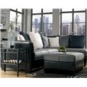 Benchcraft Masoli - Cobblestone 2-Piece Sectional with Right Chaise - Shown with Ottoman