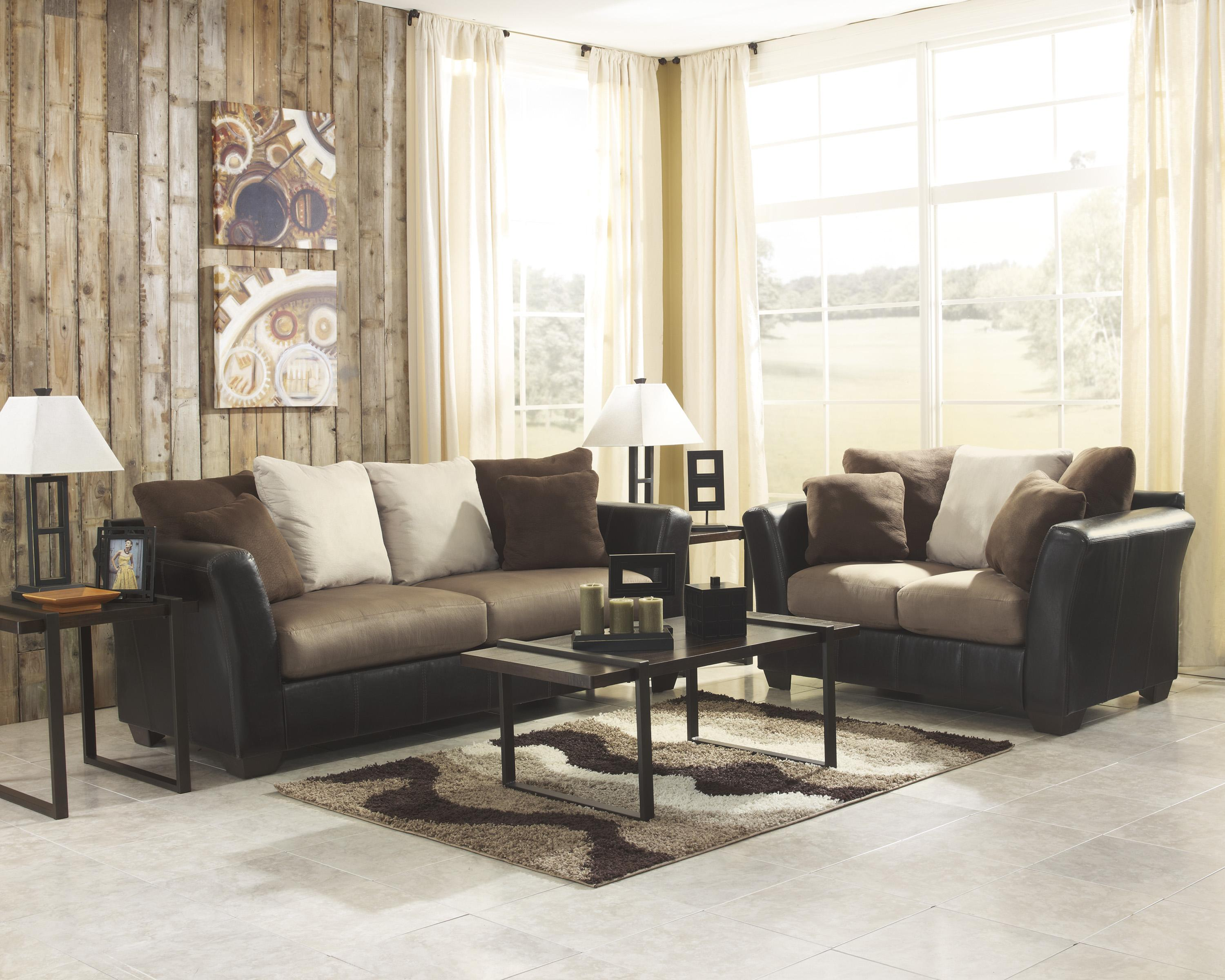 Benchcraft Masoli - Mocha Stationary Living Room Group - Item Number: 14201 Living Room Group 1