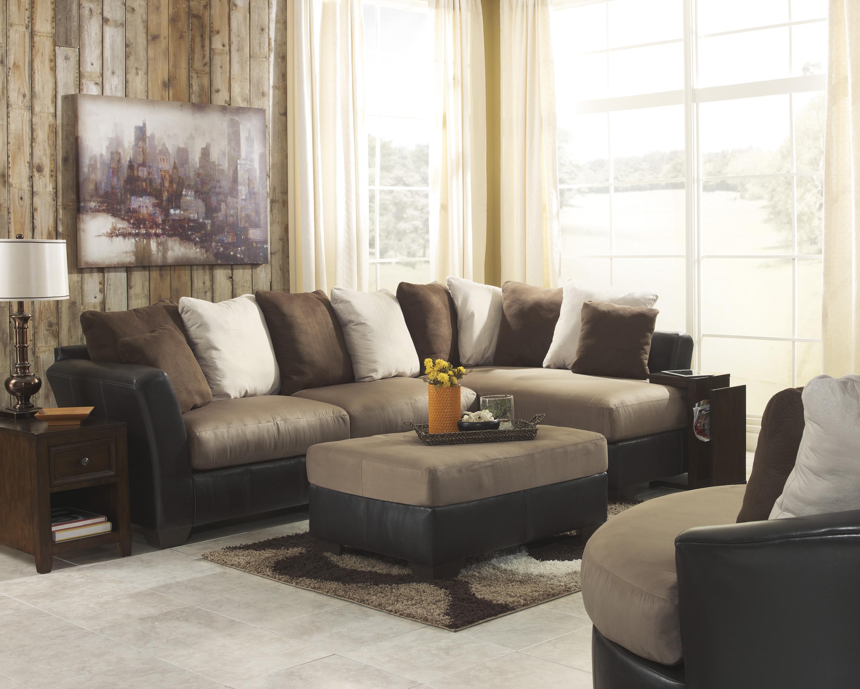 Benchcraft Masoli - Mocha Stationary Living Room Group - Item Number: 14201 Living Room Group 4