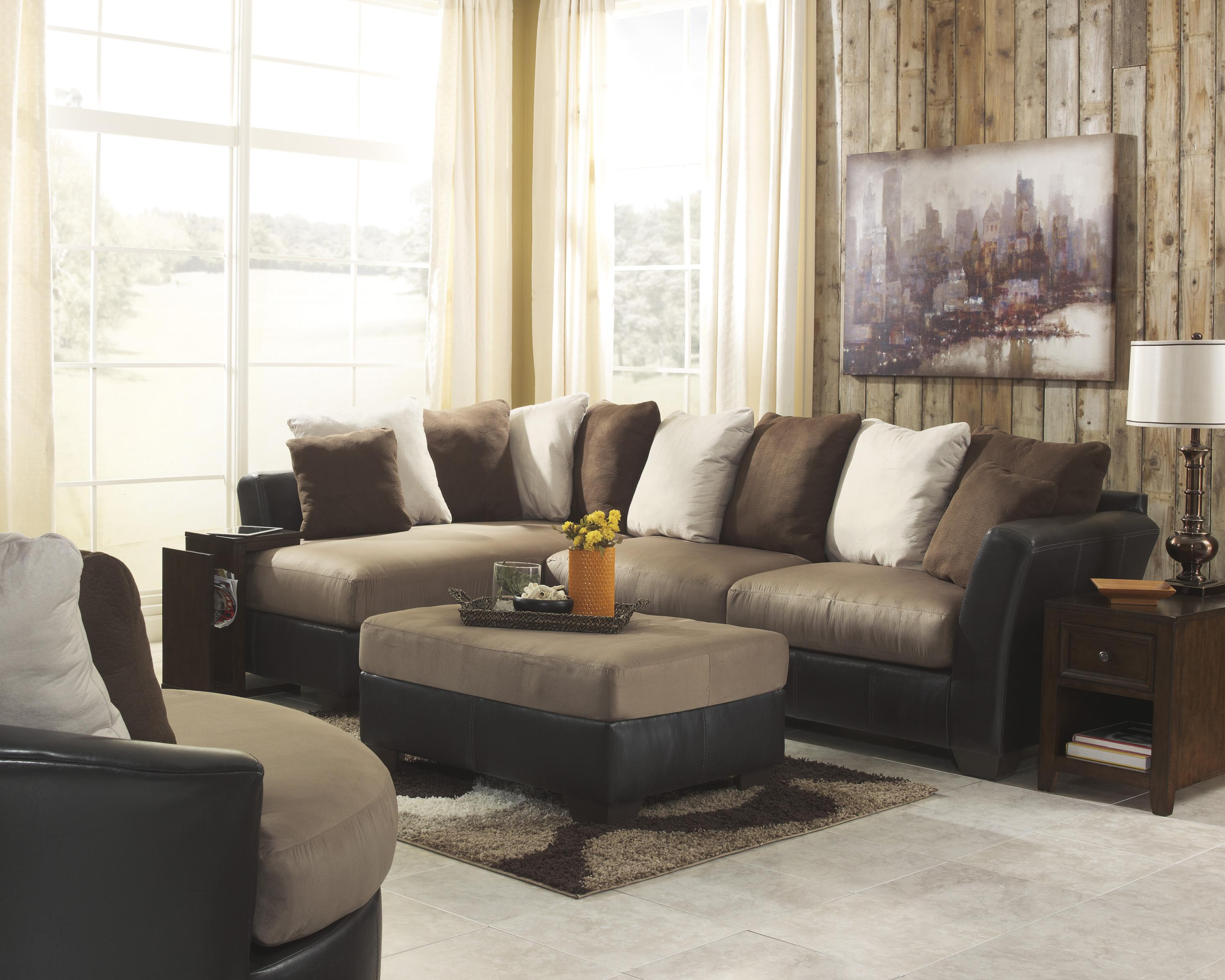 Benchcraft Masoli - Mocha Stationary Living Room Group - Item Number: 14201 Living Room Group 5