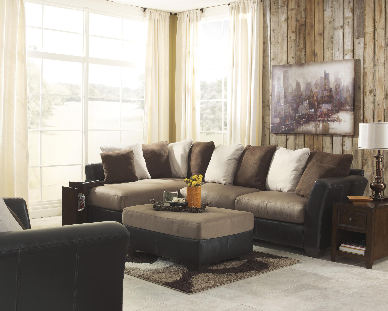Benchcraft Masoli - Mocha Stationary Living Room Group - Item Number: 14201 Living Room Group 7