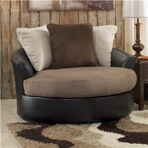 Ashley/Benchcraft Masoli - Mocha Oversized Swivel Accent Chair