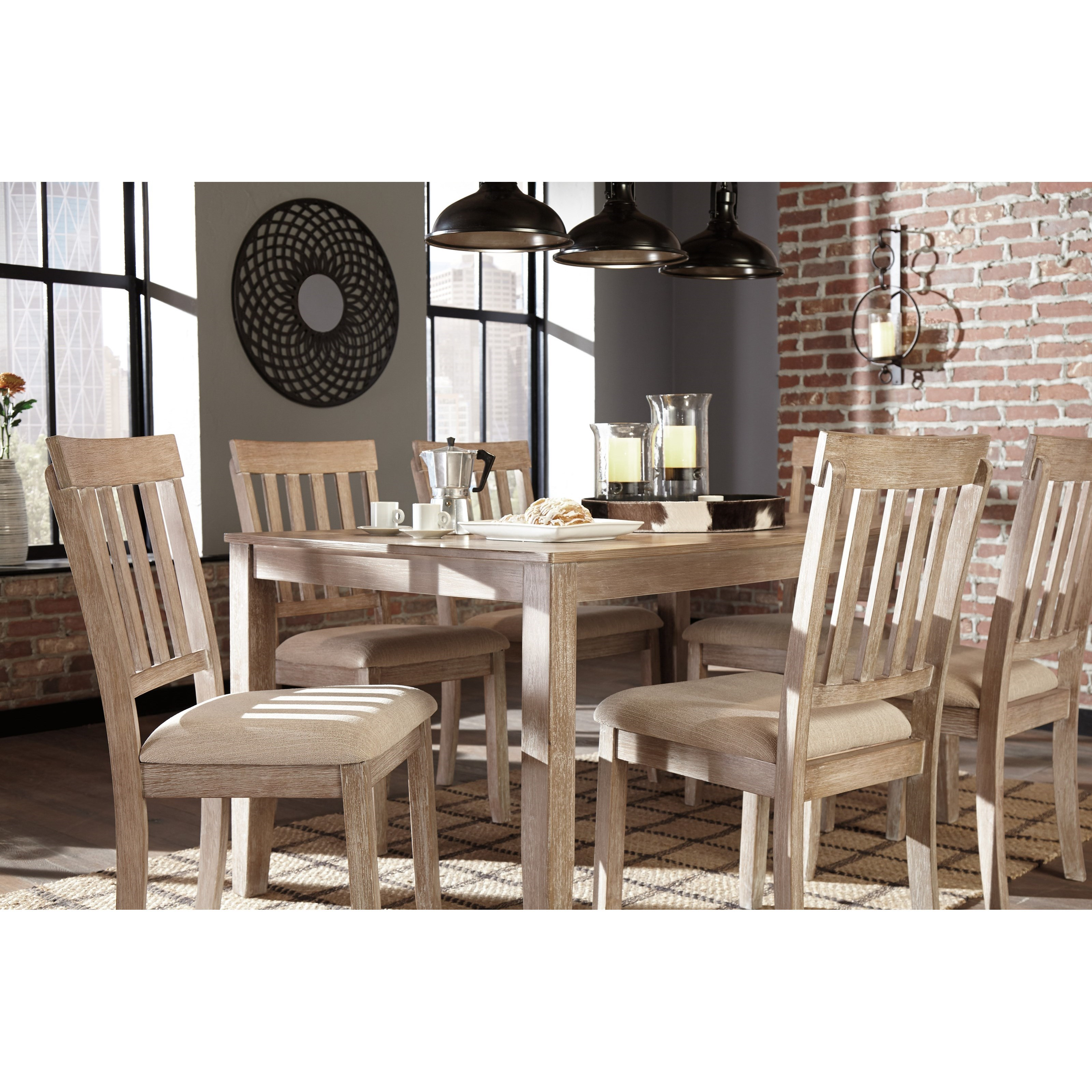 Benchcraft Mattilone D484-425 Casual Dining Room Table Set