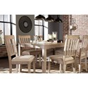 Benchcraft Mattilone Casual Dining Room Table Set with 6 Chairs