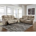Benchcraft McGinty Reclining Living Room Group - Item Number: 54101 Living Room Group 1
