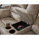 Benchcraft McGinty Power Reclining Loveseat with Adjustable Headrest and Center Console