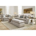 Benchcraft Melilla Oversized Accent Ottoman with Feather-Filled Cushion Top