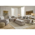Benchcraft Melilla Loveseat with Feather Blend Cushions