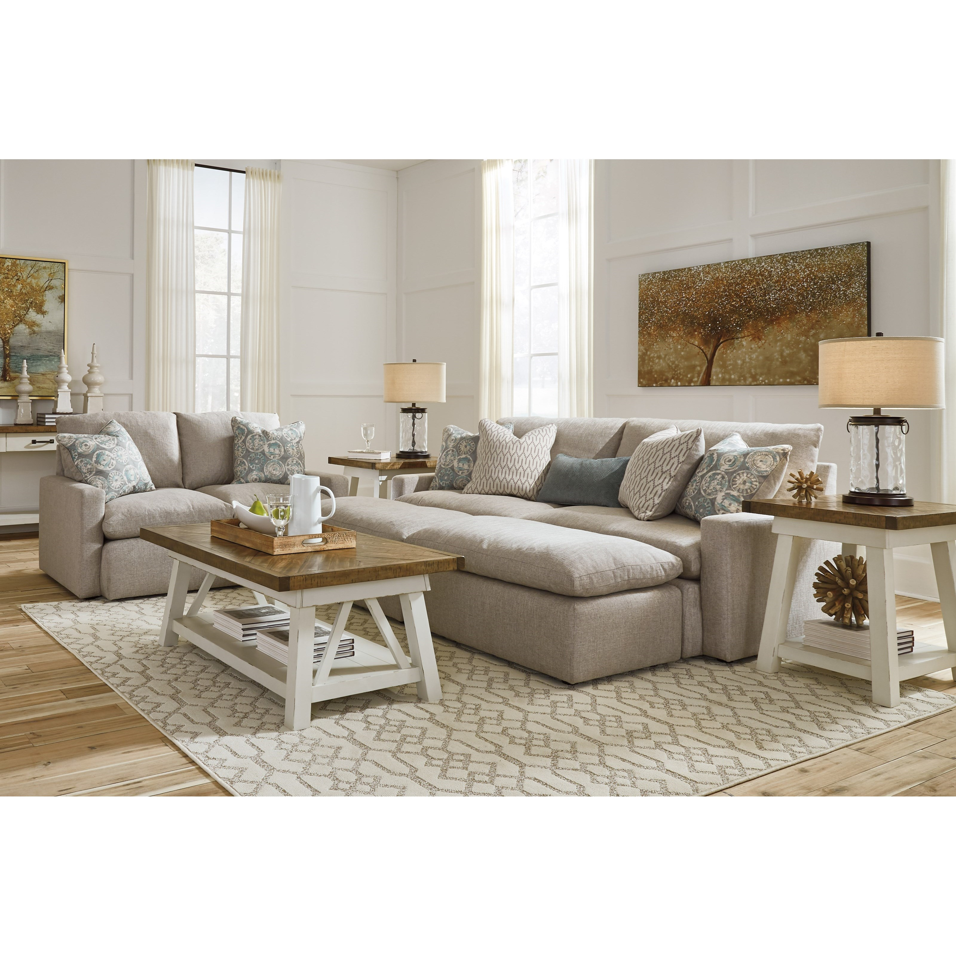 Ashley Furniture Slc: Benchcraft Melilla Pit Sectional Sofa With 2 Accent