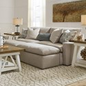 Benchcraft Melilla Pit Sectional Sofa with 2 Accent Ottomans - Item Number: 2830238+2x08