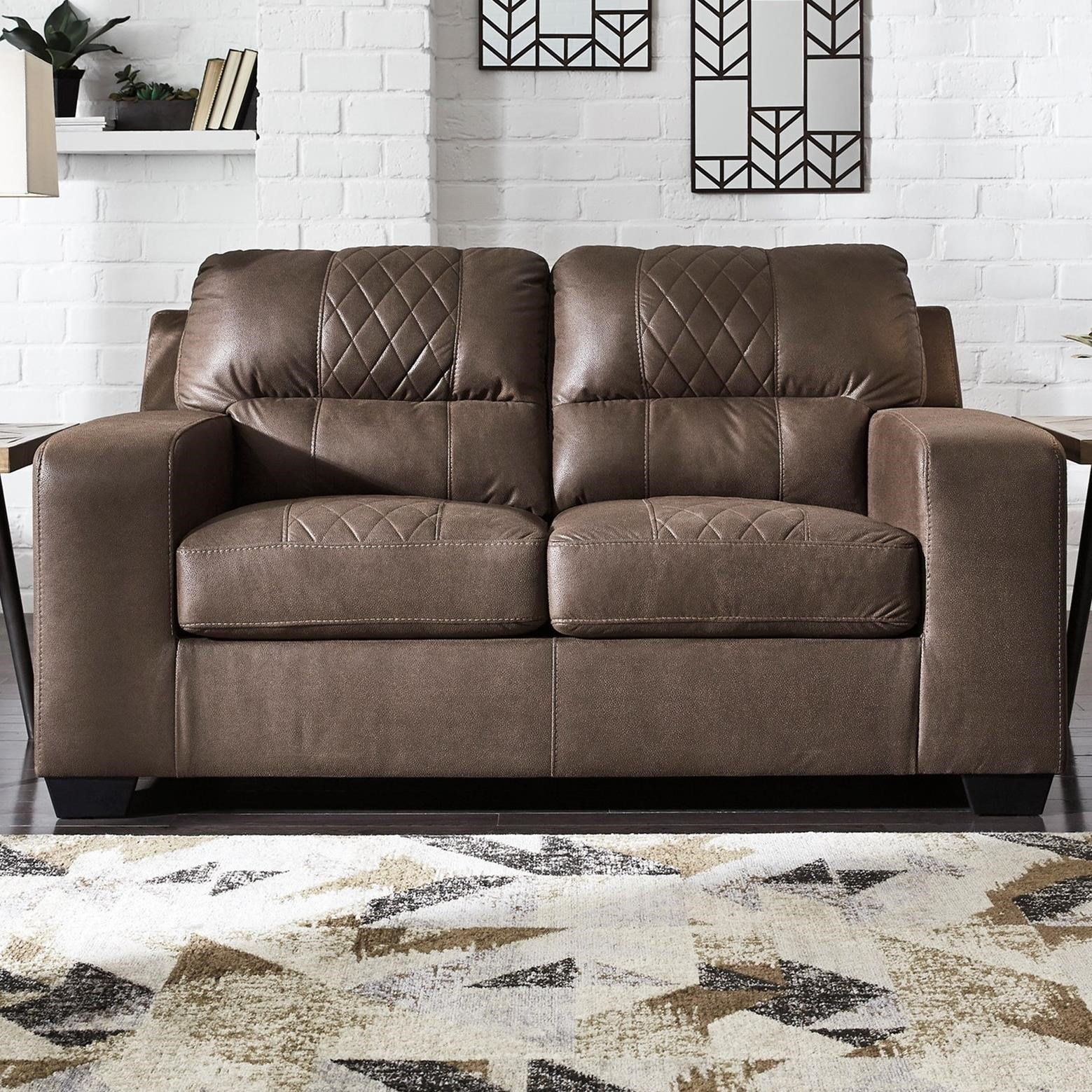 Terrific Narzole Contemporary Loveseat By Benchcraft By Ashley At Royal Furniture Home Interior And Landscaping Mentranervesignezvosmurscom