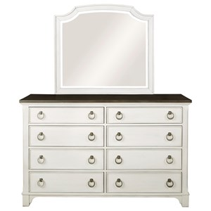 Cottage Style Dresser and Mirror Set