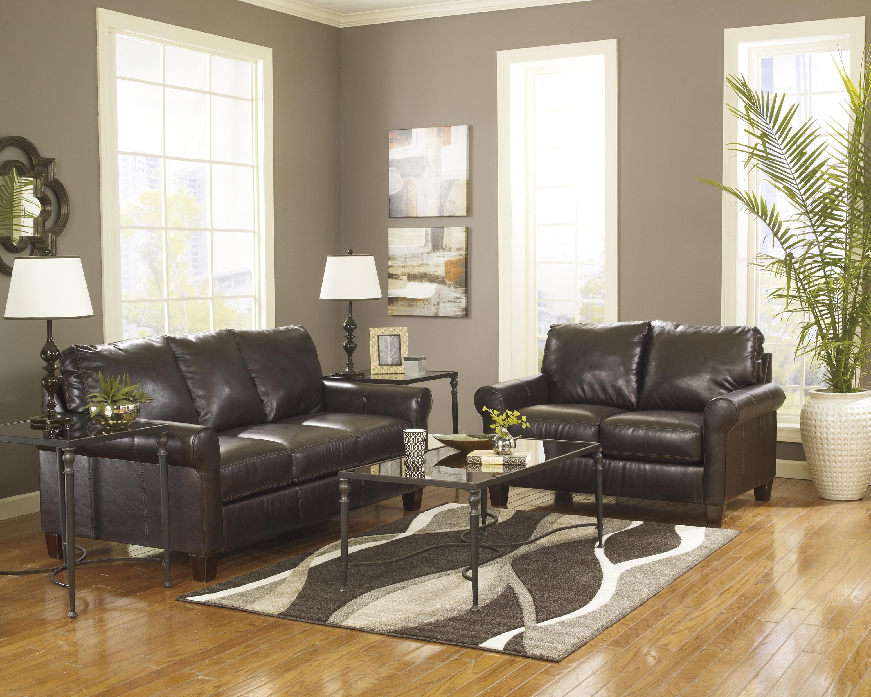 Ashley/Benchcraft Nastas DuraBlend - Bark Stationary Living Room Group - Item Number: 23300 Living Room Group 3