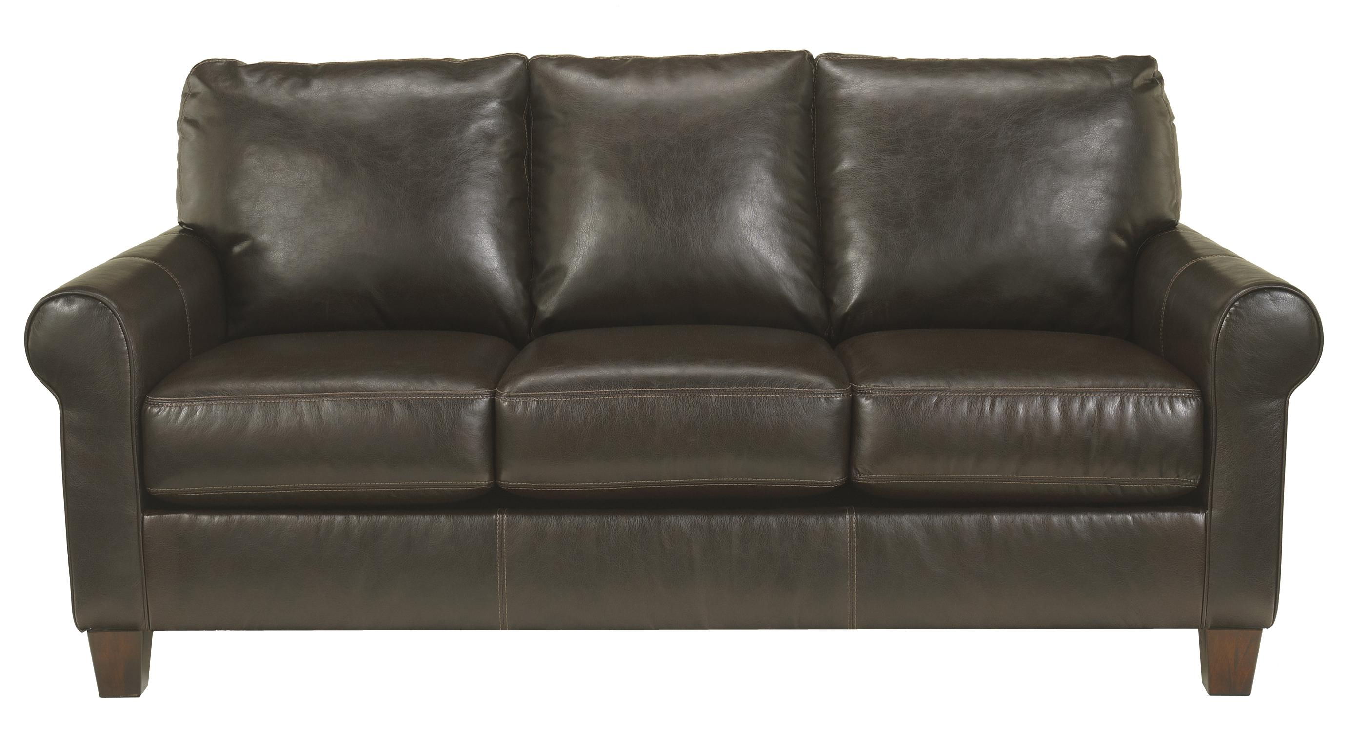 Ashley/Benchcraft Nastas DuraBlend - Bark Sofa - Item Number: 2330038
