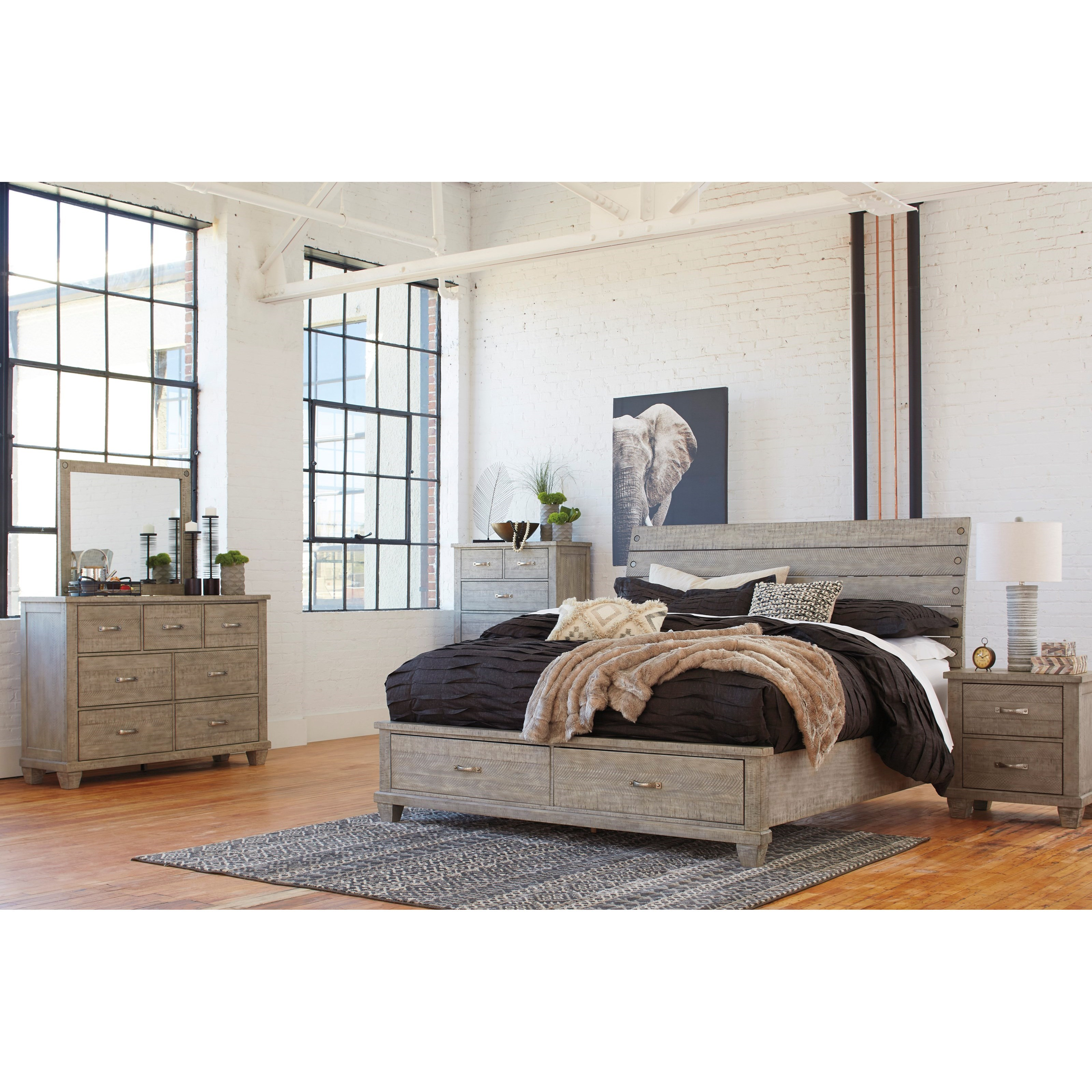 Naydell Queen Bedroom Group by Benchcraft at Virginia Furniture Market