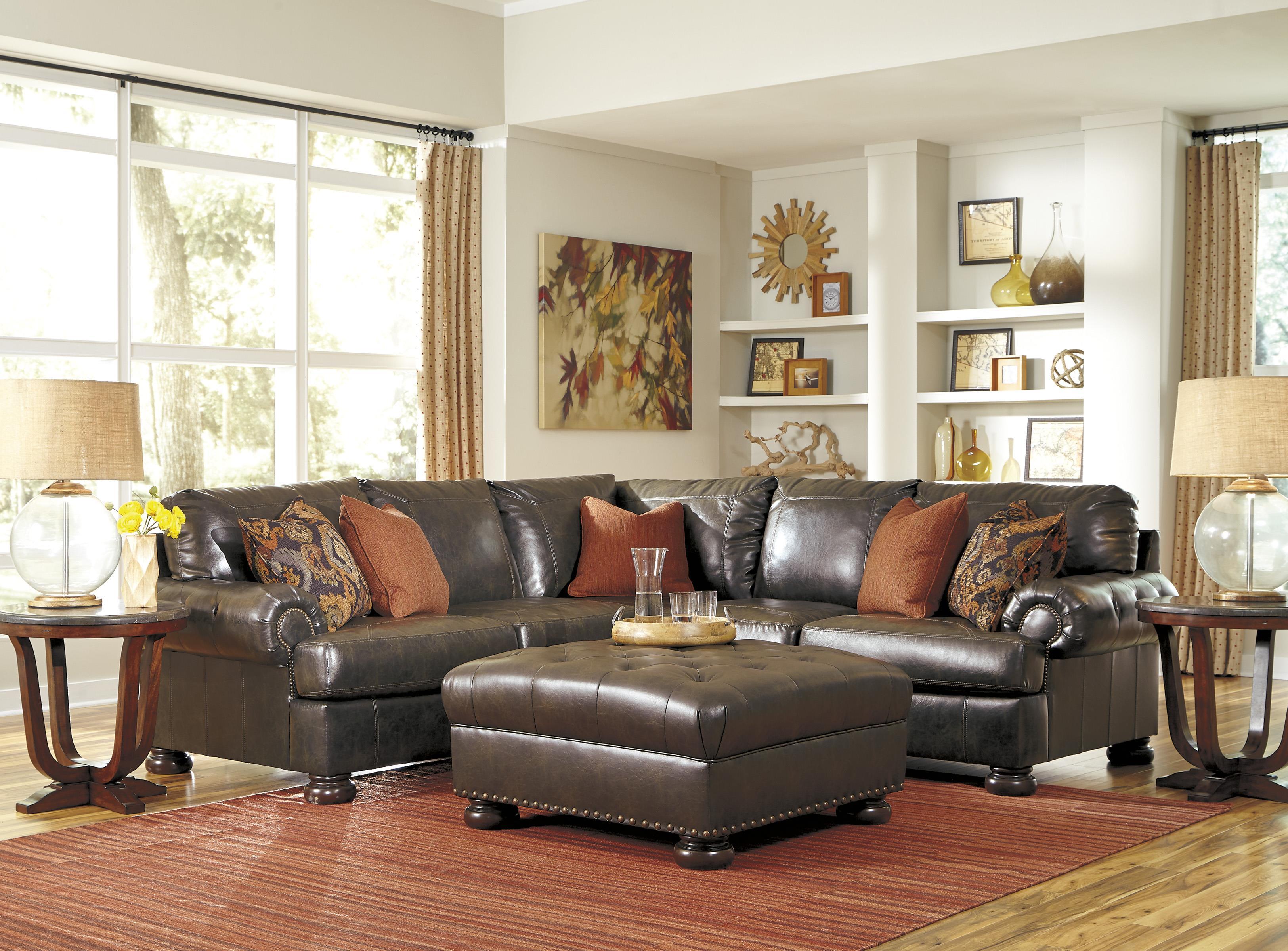 Benchcraft Nesbit DuraBlend® Stationary Living Room Group - Item Number: 31600 Living Room Group 1