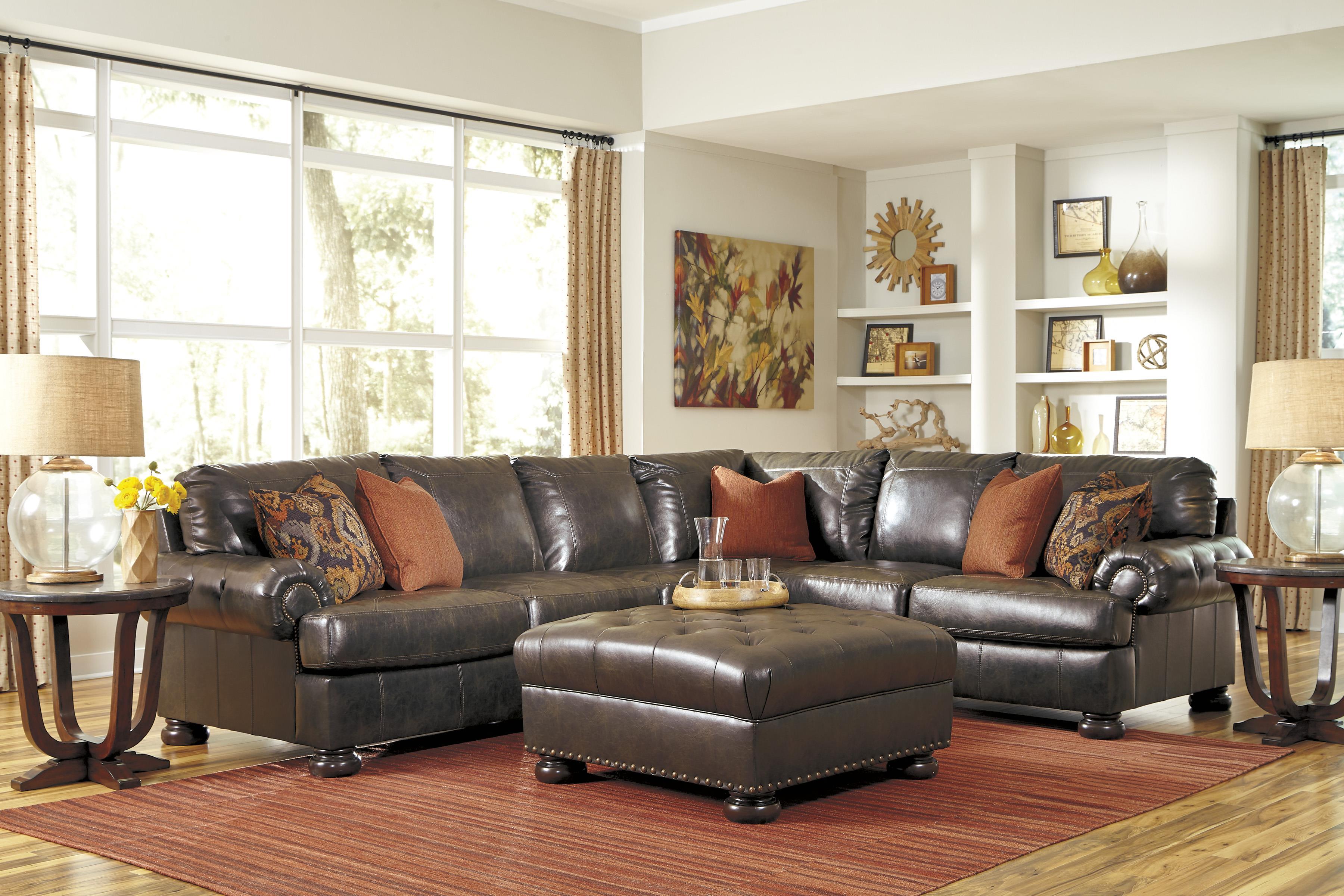 Benchcraft Nesbit DuraBlend® Stationary Living Room Group - Item Number: 31600 Living Room Group 2