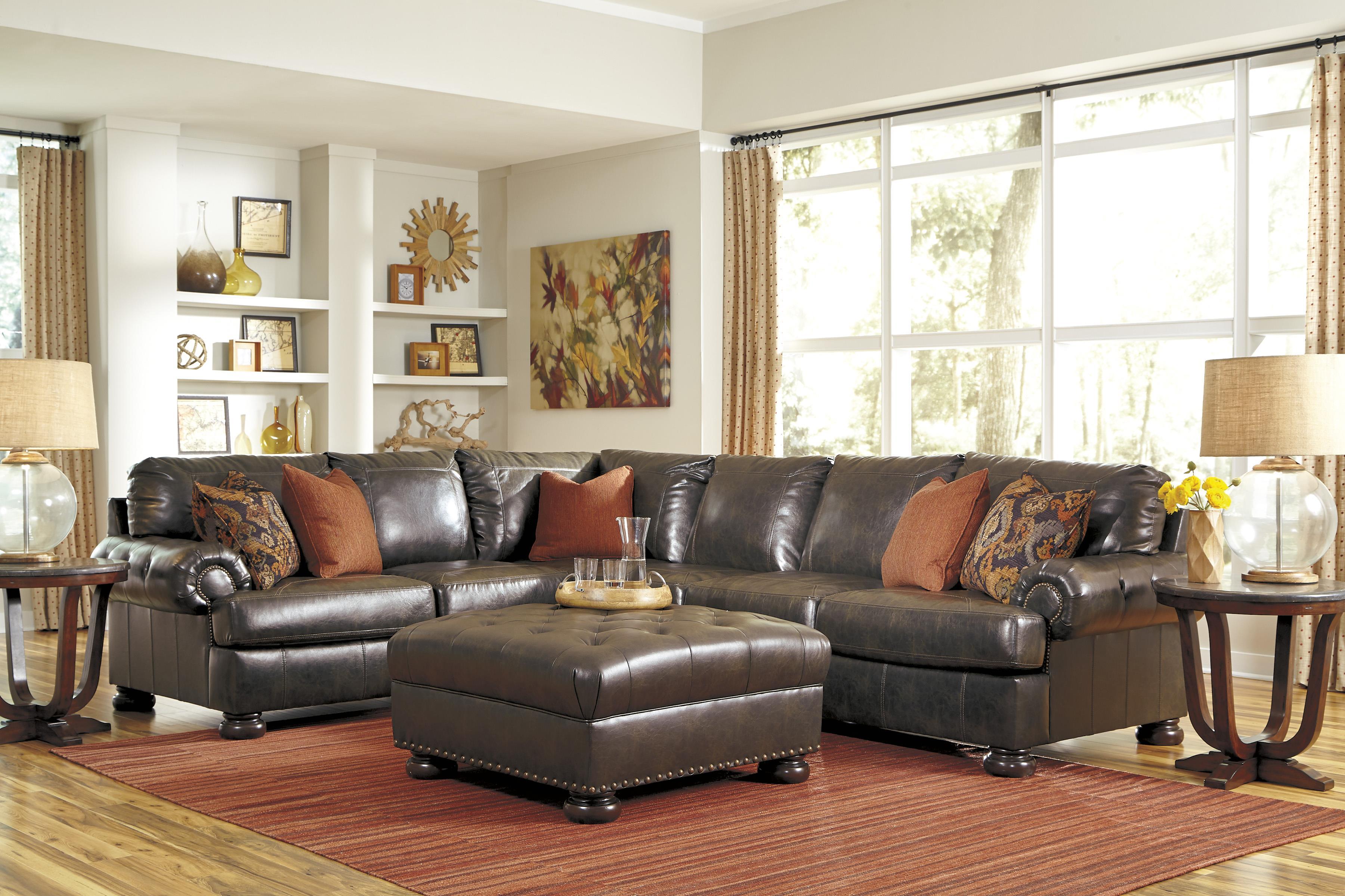 Benchcraft Nesbit DuraBlend® Stationary Living Room Group - Item Number: 31600 Living Room Group 3